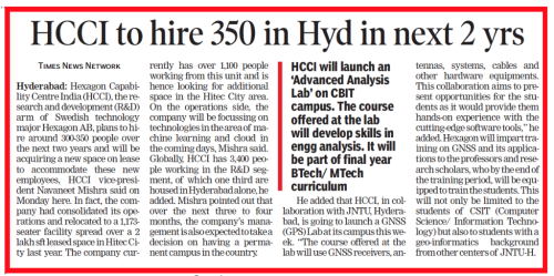 The Times of India, Hyderabad