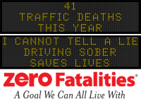 Message Monday - I cannot tell a lie... driving sober saves lives