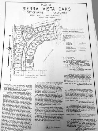 Sierra Vista Oaks (Miller Drive)-1950-map