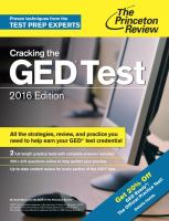 Cracking the GED test 2016 edition