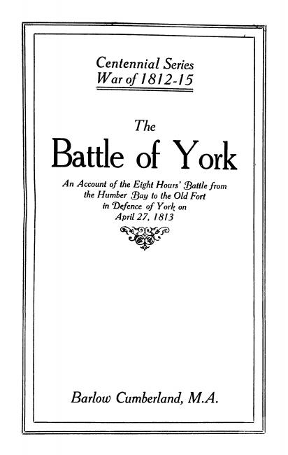Battle of york book