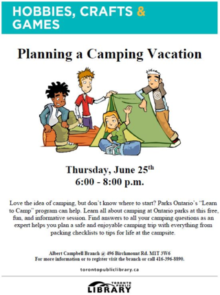 Planning a Camping Vacation