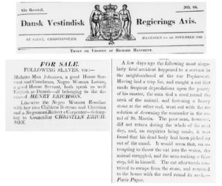 Dansk Vestindisk Regerings Avis 1833 selections page 4