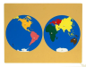 : Montessori World Puzzle Map with Labeled and Unlabeled Control Maps