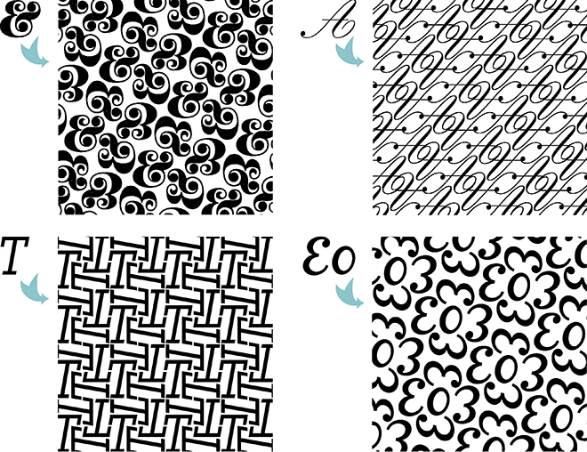 Type Pattern, Typography, Typographical, #SFDesignADay, March SpoonChallenge
