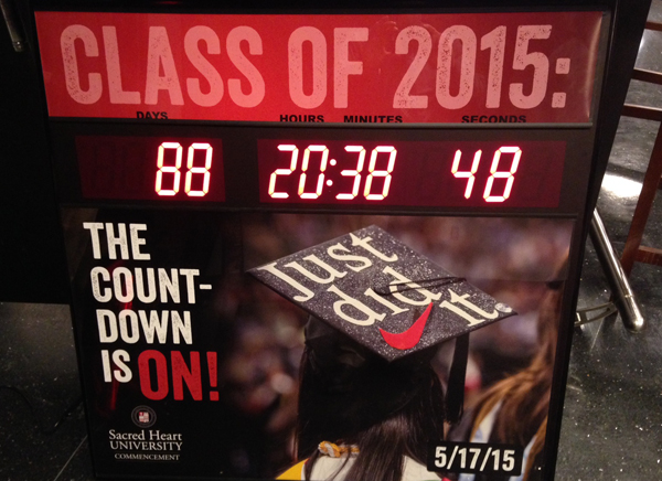 Commencement Countdown Clock at Red's