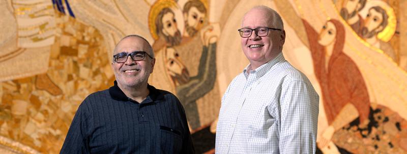 Frs. Joe Farias and Ed Stewart