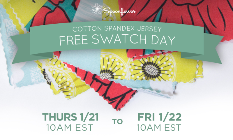 free swatch day cotton spandex jersey