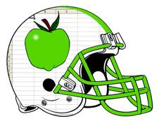 Green-apple-spreadsheet-fantasy-football-helmet