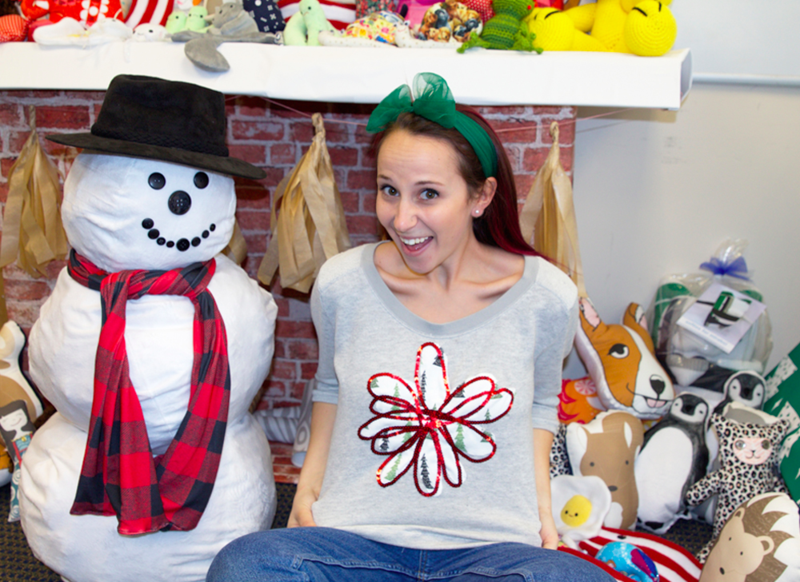 A Spoonflower Holiday Sweatshirt!