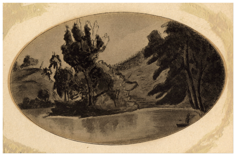 Credit River by Elizabeth Posthuma Simcoe in 1796