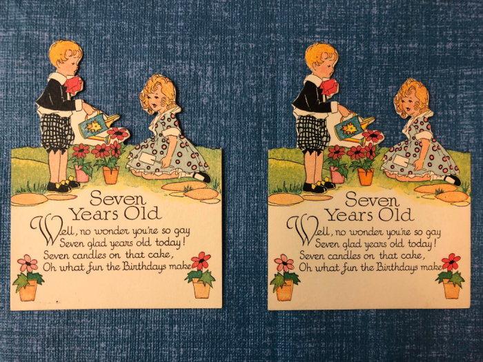 Two identical cards